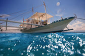 Filipino outrigger ready to navigate — Stock Photo