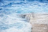 Flooded pool area — Stock Photo
