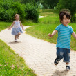 Girl chasing cute boy — Stock Photo #13605164