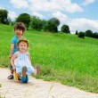 Kids playing in the park — Stock Photo