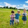 Three little friend in the park — Stock Photo #13605167