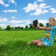 Fast internet on the countryside — Stock Photo