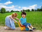 Happy kids having fun together — Stock Photo