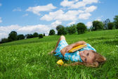 Dreaming on the lawn — Stock Photo