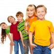 Foto Stock: Three boys and two girls