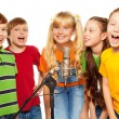 Classmates singing together — Stock Photo #16295337