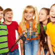 Classmates singing together — Foto de Stock