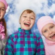 Three laughing kids — Stock Photo #16295483