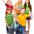 Winning team of 5 boys and girls — Stock Photo #16295485