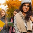 Happy mulatto student — Stock Photo
