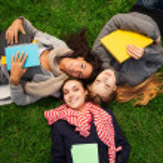 Hot college girls — Stock Photo