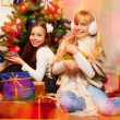 Kids got their presents - Stock Photo