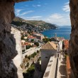 Wall view from tower of Dubrovnik Castle — Stock Photo #19059209