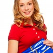 Girl with present — Stock Photo #19059825