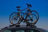 транспортировка велосипеда — Стоковое фото