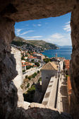 Wall view from the tower of Dubrovnik Castle — Foto de Stock