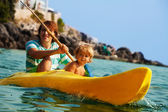 Sea kayaking with children — Foto de Stock