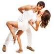 Couple in love dancing — Stock Photo