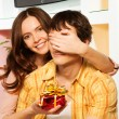 Royalty-Free Stock Photo: Honey this is present on st. Valentine day