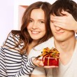 Surprise, guess the present — Stock Photo
