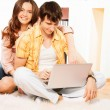 Browsing internet together — Stock Photo