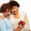 Royalty-Free Stock Photo: Presents better when you are senior