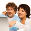 Browsing internet together — Stock Photo #19061639