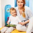 Mother son gadget - Foto Stock