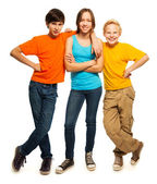Happy teenage kids — Stockfoto