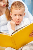 So hard to read to teach to read — Stock Photo