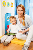 Mother son gadget — Stock Photo