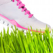 Stock Photo: Sneaker stepping on grass