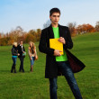 Stock Photo: Student in the park