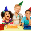 Kids and party — Stock Photo