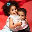 Loving siblings hugging — Stock Photo #22246053