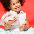 Laughing little black girl — Stock Photo