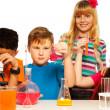 Science kids team — Stock Photo