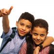 Royalty-Free Stock Photo: Two black boys after school