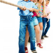 Foto de Stock  : Kids pull rope