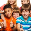 Large group of happy kids - Stock Photo