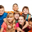 Happy kids together hugging — Stock Photo #22246405