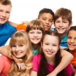 Lump of happy kids — Stock Photo #22246407
