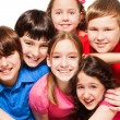 Close-up of group of happy kids — Stock Photo