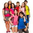 Group of schoolchildren — Stock Photo