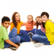 Happy kids in semi-circle — Stock Photo #22246823
