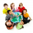 Kids from all over the world - Stock Photo