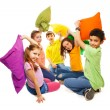Fighting with pillows, so much fun — Stock Photo #22246843
