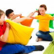 Fighting with pillows is fun — Stock Photo #22246845