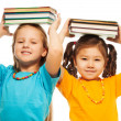 Two girls with books — Stock Photo