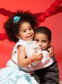 Loving siblings hugging — Stock Photo